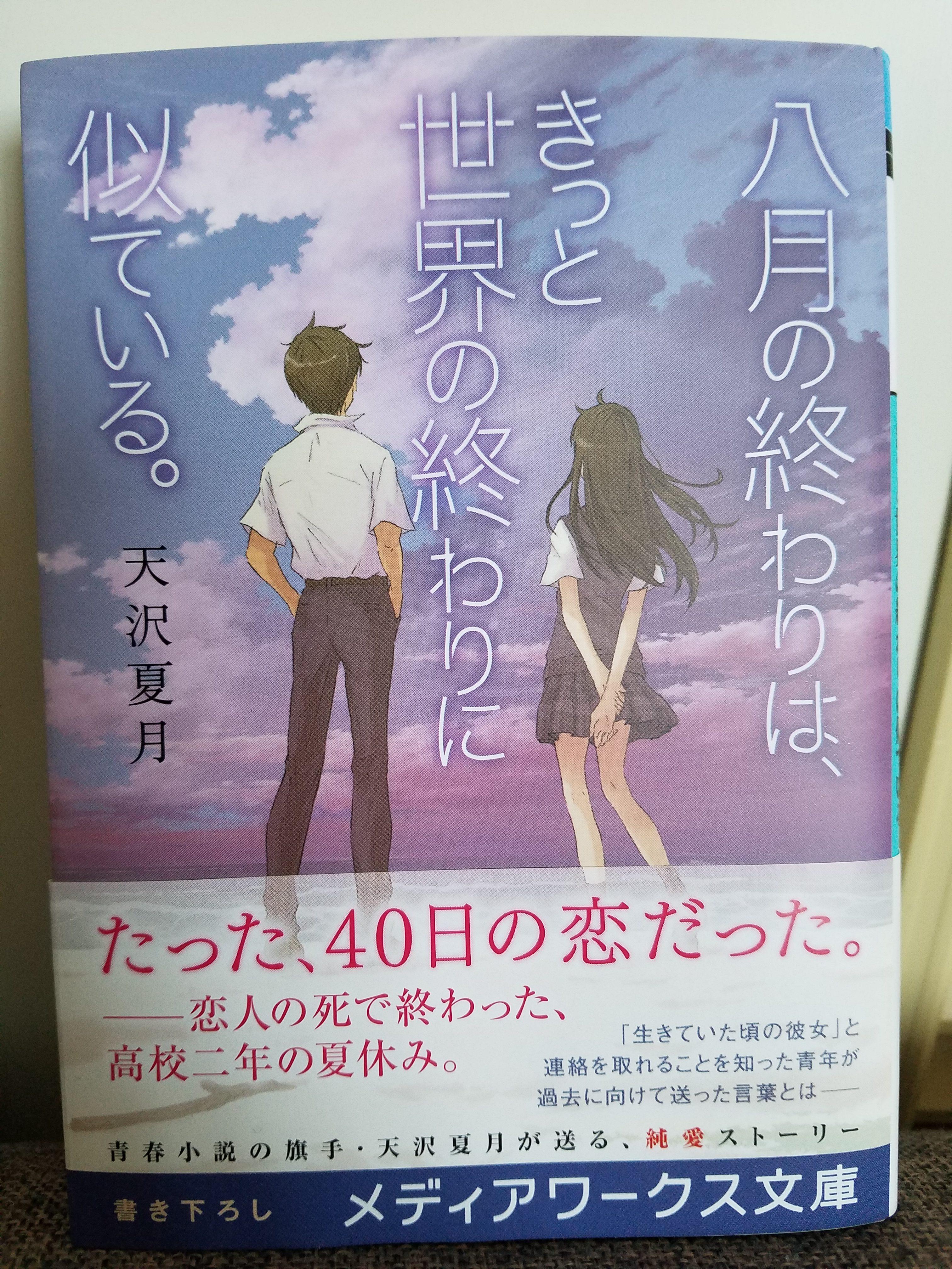 天沢夏月『八月の終わりは、きっと世界の終わりに似ている。』感想※ネタバレ注意(素人小説書評)